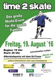 time 2 skate - Plakat_kl